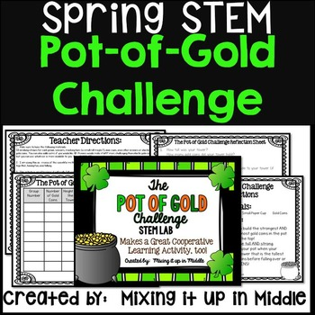 St. Patrick's Day Science STEM LAB:  The Pot of Gold Challenge