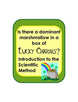 St Patricks Day Scientific Method Experiment Review Introduction w/ Lucky Charms