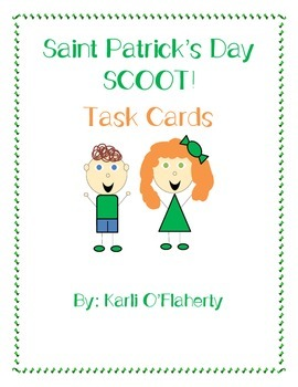St. Patrick's Day Scoot! 20 Different Task Cards