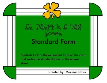 St. Patrick's Day Scoot - Standard Form