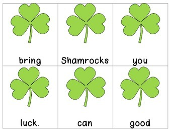 St. Patrick's Day Scrambled Sentences