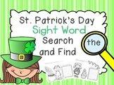 St. Patrick's Day Sight Word Search and Finds