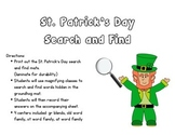 St. Patricks Day Search and find - gr blends, ot, at, old word family
