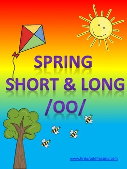 Spring Seatwork Long U Short & Long OO Compound Words Syllables EW UE