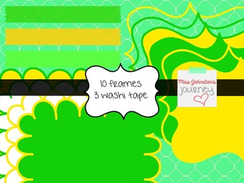 St. Patrick's Day Seller Kit {Digital Papers, Frames, Washi, Clipart}