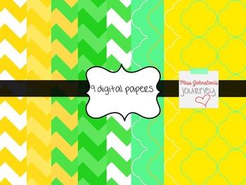 St. Patrick's Day Seller Kit {Digital Papers, Frames, Washi, Clipart}