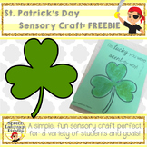 St. Patrick's Day Sensory Craft FREEBIE