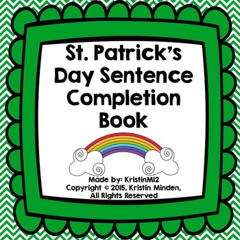 St. Patrick's Day Sentence Completion Book