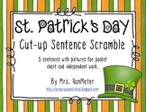 St. Patrick's Day Sentence (Cut-a-Sentence) Scramble