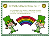 St. Patrick's Day Sentence Fix-It