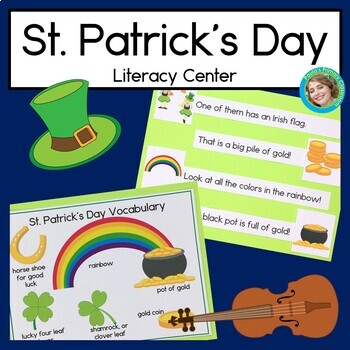 St. Patrick's Day Sentence Picture Match Reading Center