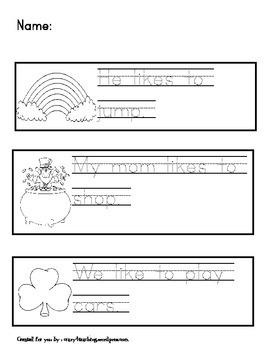 St. Patrick's Day Sentence Scramble packet