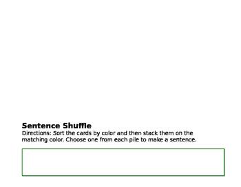 St. Patricks Day Sentence Shuffle