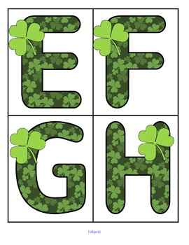 St. Patrick's Day Large Shamrock Alphabet Letters FREE