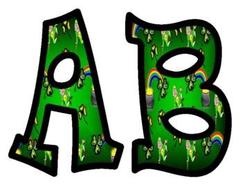 St. Patrick's Day Shamrock Bulletin Board Letters