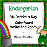 St. Patrick's Day Shamrock Color Word Write the Room & Craftivity