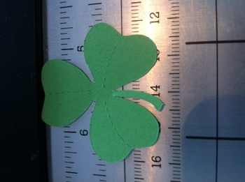 St. Patrick's Day Shamrock Die Cut
