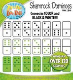 St. Patrick's Day Shamrock Dominoes Clipart {Zip-A-Dee-Doo-Dah Designs}