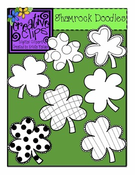 St. Patrick's Day Shamrock Doodles {Creative Clips Digital Clipart}