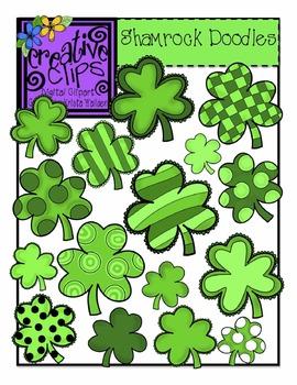St. Patrick's Day Shamrock Doodles {Creative Clips Digital Clipart}