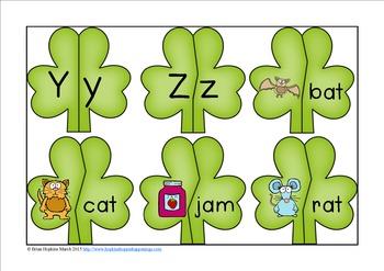 St. Patrick's Day Kindergarten Puzzles