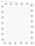St. Patrick's Day Shamrock Lined Paper