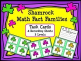 St. Patrick's Day:  Shamrock Math Fact Families Task Cards and Recording Sheets