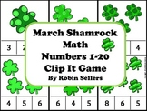 St. Patrick's Day Shamrock Math {Numbers 1-20 Clip It Game and Math Center}