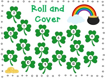 St Patrick's Day Shamrock Roll and Cover