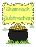 St. Patrick's Day Shamrock Subtraction Mats
