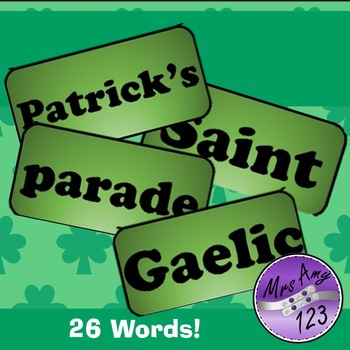 St Patrick's Day Word Wall