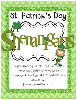 St. Patrick's Day Shenanigans!  Hands On & Independent Activities