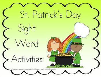 St. Patrick's Day Sight Word Activities