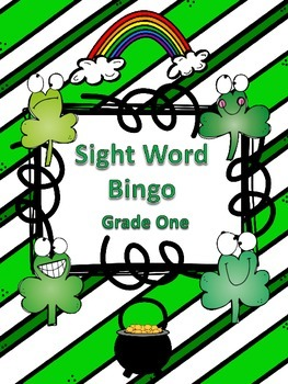 St. Patrick's Day Sight Word Bingo First Grade Level