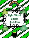 St. Patrick's Day Sight Word Bingo Third Grade Level