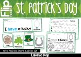 St Patrick's Day Sight Word Fluency Flip Books