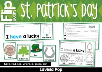 St Patrick's Day Sight Word Fluency Flip Books