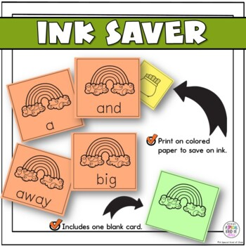 St. Patrick's Day Sight Word Game Pre Primer Dolch List