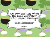 St Patrick's Day Sight Word Hunt! Write the Room with Secr