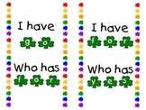 St. Patrick's Day Sight Word I Have, Who Has...