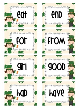 St. Patrick's Day Sight Word Pack