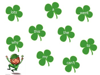 St. Patrick's Day Sight Words