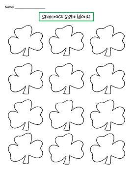 St. Patricks Day Sight Words