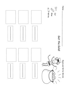 St. Patrick's Day Sight Words Activities Centers Practice Sheets  K.RF.3c