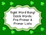 St. Patrick's Day Sight Words Bang! - Dolch PrePrimer and