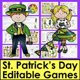 St. Patrick's Day Activities:  Sight Word Game Boards - Fi