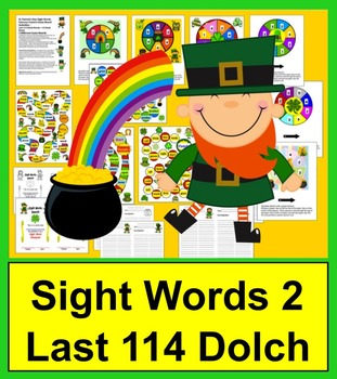 St. Patrick's Day Activities: Game Boards for Last 114 Dolch Words + Dolch Nouns