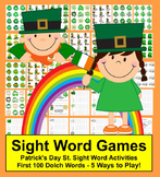 St. Patrick's Day Sight Word Games - Set One - Card Games & Memory!