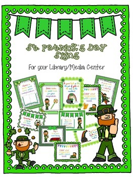 St. Patrick's Day Signs for Your Library Media Center
