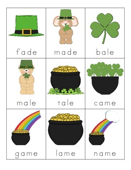 St. Patrick's Day Silent E Cards